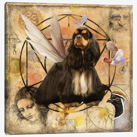 Cocker Spaniel Black And Tan Angel Canvas Print #NDG198} by Nobility Dogs Canvas Artwork