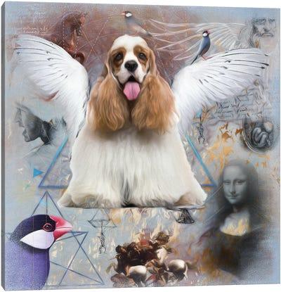 Cocker Spaniel Angel Da Vinci Canvas Art Print