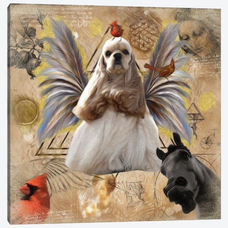 Red Cocker Spaniel Angel Da Vinci Canvas Print #NDG201} by Nobility Dogs Canvas Art