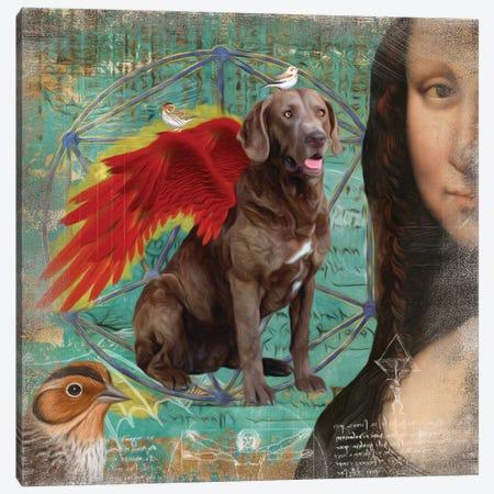 Chesapeake Bay Retriever Angel Da Vinci Canvas Print #NDG202} by Nobility Dogs Canvas Artwork