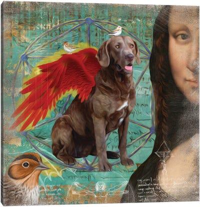 Chesapeake Bay Retriever Angel Da Vinci Canvas Art Print