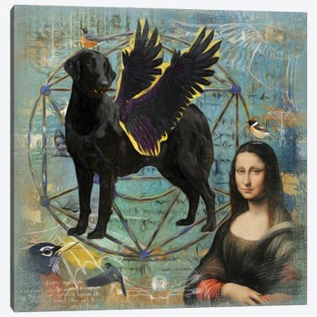 Flat-Coated Retriever Angel Da Vinci Canvas Print #NDG205} by Nobility Dogs Canvas Art Print