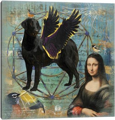 Flat-Coated Retriever Angel Da Vinci Canvas Art Print