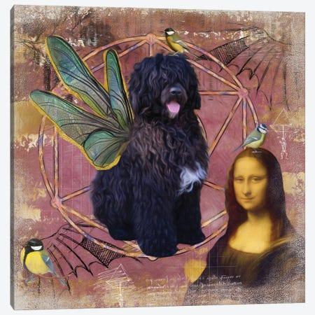 Portuguese Water Dog Angel Da Vinci Canvas Print #NDG210} by Nobility Dogs Canvas Print