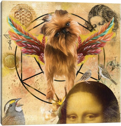 Brussels Griffon Angel Da Vinci Canvas Art Print