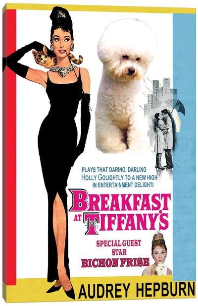Bichon Frise Breakfast At Tiffany Movie Canvas Art Print