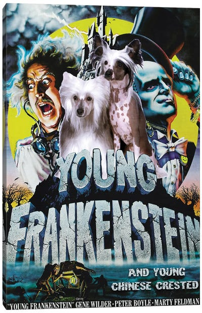 Chinese Crested Dog Young Frankenstein Canvas Art Print