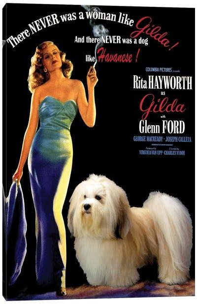 Havanese Dog Gilda Movie Canvas Art Print