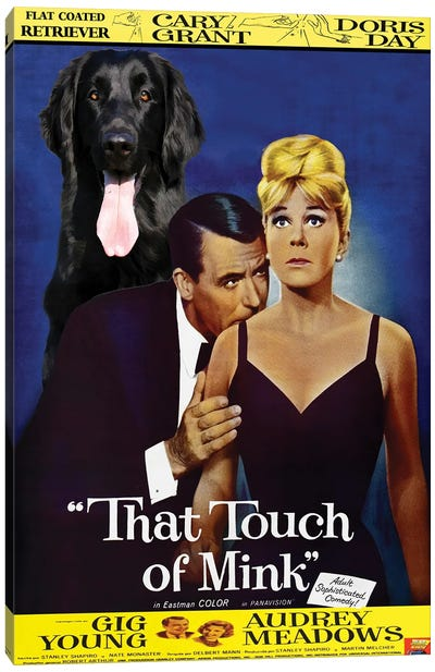 Flat-Coated Retriever That Touch Of Mink Canvas Art Print