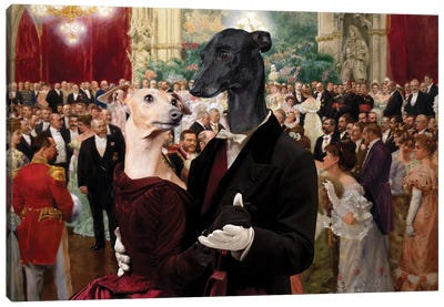 Italian Greyhound Dance Hall Vienna Canvas Art Print