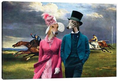 Greyhound Derby In Epsom Canvas Art Print
