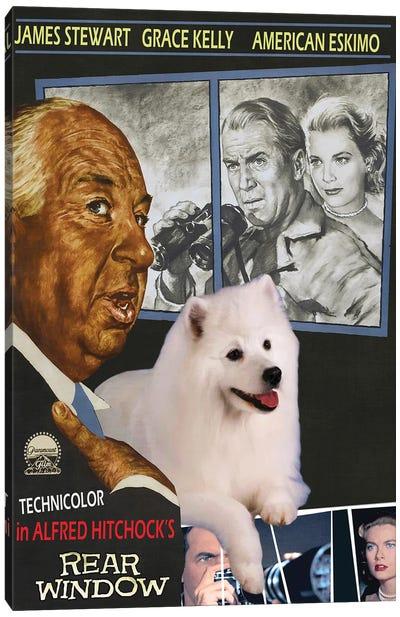 American Eskimo Dog Rear Window Canvas Art Print