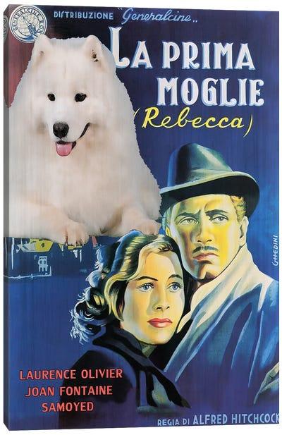 Samoyed Dog Rebecca Movie Canvas Art Print
