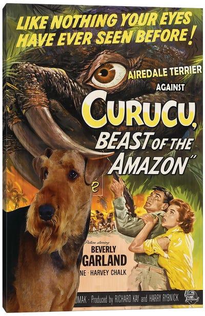 Airedale Terrier Curucu Movie Canvas Art Print