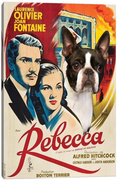 Boston Terrier Rebecca Canvas Art Print