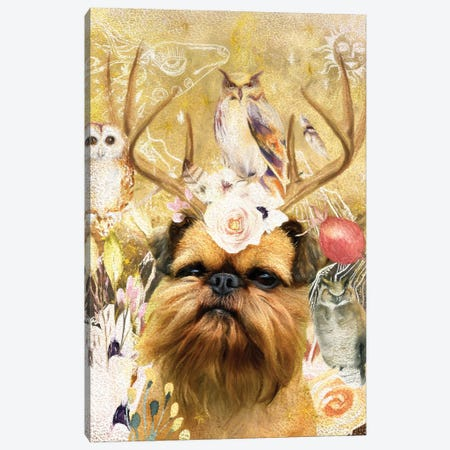 Brussels Griffon Once Upon A Time Canvas Print #NDG328} by Nobility Dogs Art Print