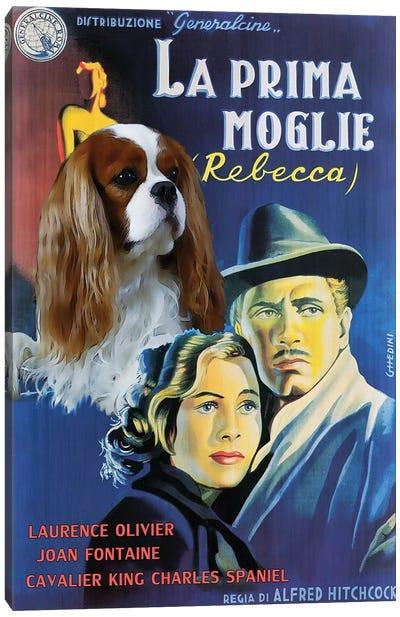 Cavalier King Charles Spaniel Rebecca Movie Canvas Art Print