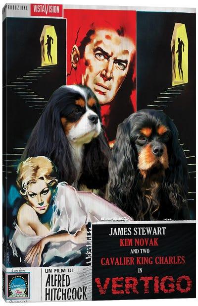 Cavalier King Charles Spaniel Vertigo Movie Canvas Art Print