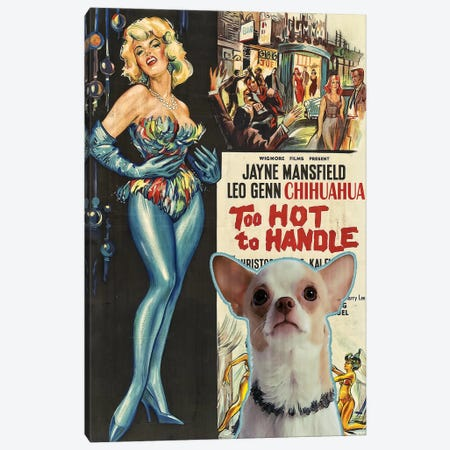 Chihuahua Too Hoot To Handle Movie Canvas Print #NDG356} by Nobility Dogs Art Print
