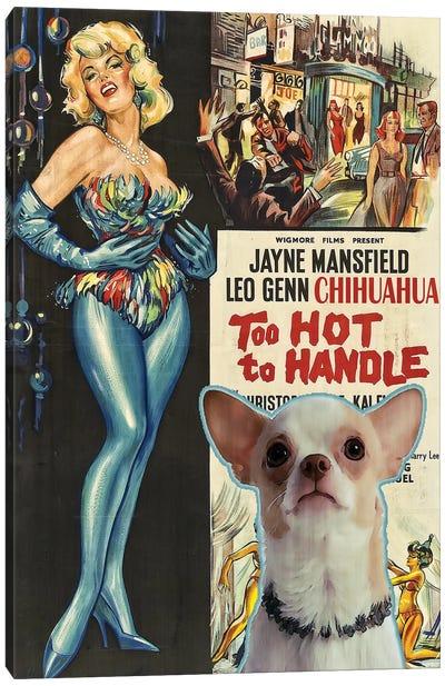 Chihuahua Too Hoot To Handle Movie Canvas Art Print