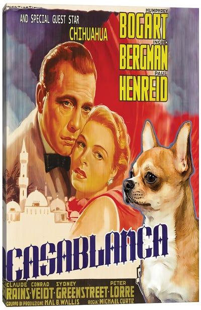 Chihuahua Casablanca Movie Canvas Art Print