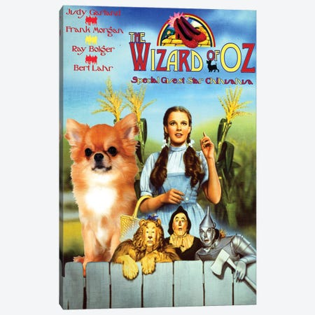 Longhaired Chihuahua The Wizard Of Oz Canvas Print #NDG364} by Nobility Dogs Canvas Artwork