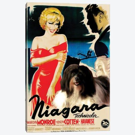 Havanese Dog Niagara Movie Canvas Print #NDG378} by Nobility Dogs Canvas Wall Art