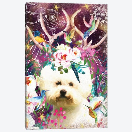 Bichon Frise Once Upon A Time Canvas Print #NDG381} by Nobility Dogs Art Print