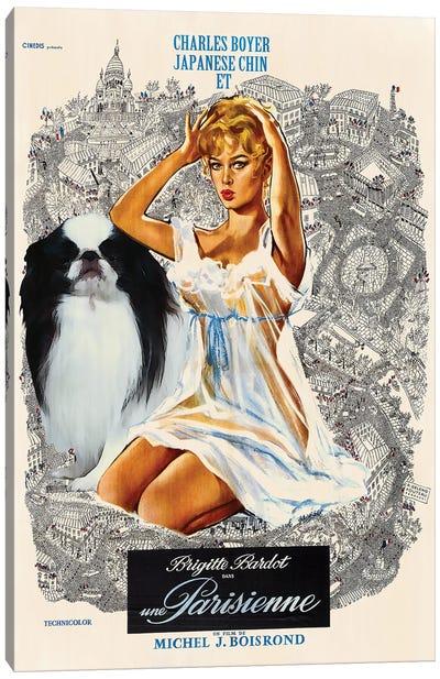 Japanese Chin Una Parisienne Movie Canvas Art Print