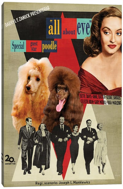 Poodle All About Eve Movie Canvas Art Print