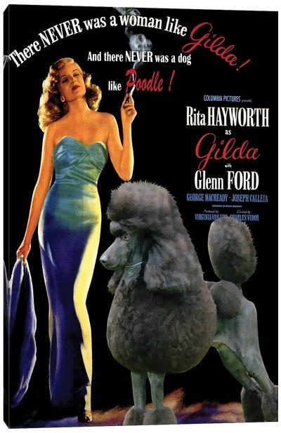 Standard Poodle Gilda Movie Canvas Art Print