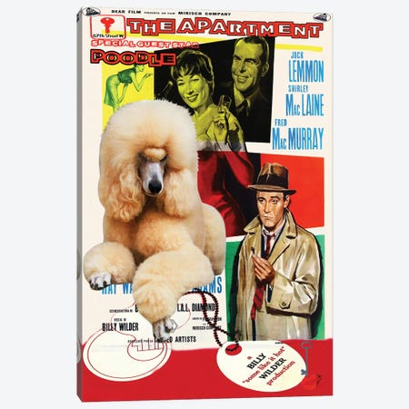 Poodle The Apartment Movie Canvas Print #NDG423} by Nobility Dogs Canvas Artwork
