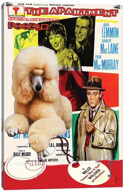 Poodle The Apartment Movie Canvas Art Print