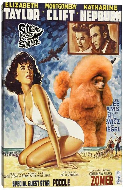 Poodle Suddenly Last Summer Movie Canvas Art Print