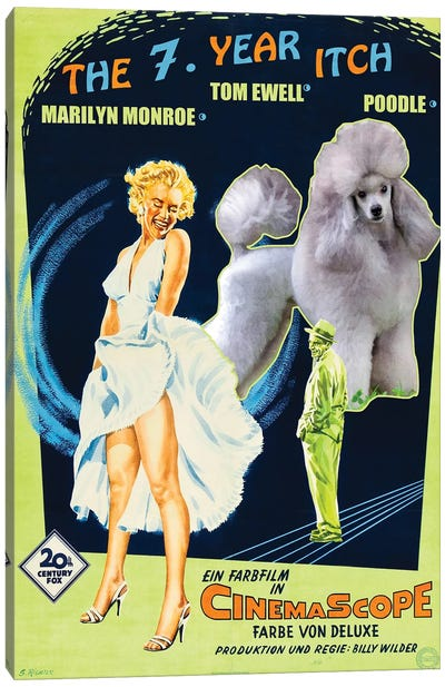 Poodle The Seven Year Itch Movie Canvas Art Print