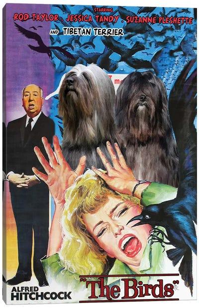 Tibetan Terrier The Birds Movie Canvas Art Print