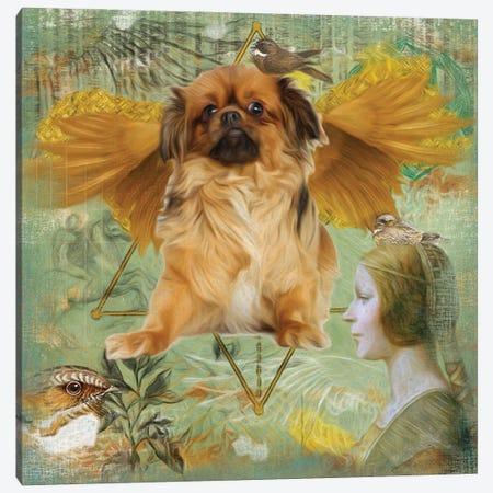Tibetan Spaniel Angel Da Vinci Canvas Print #NDG439} by Nobility Dogs Canvas Art Print