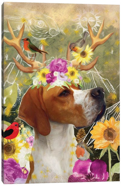 English Pointer Once Upon A Time Canvas Art Print