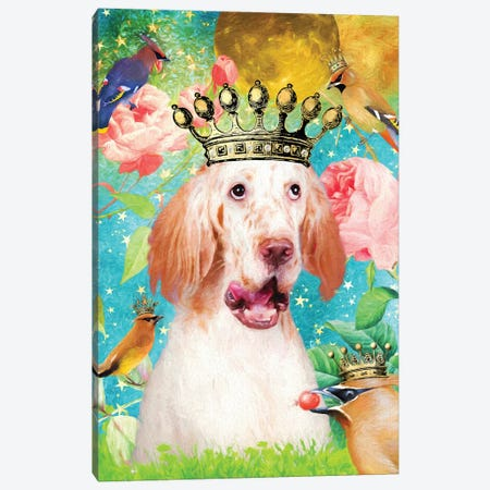 English Setter Once Upon A Time Canvas Print #NDG451} by Nobility Dogs Canvas Art Print