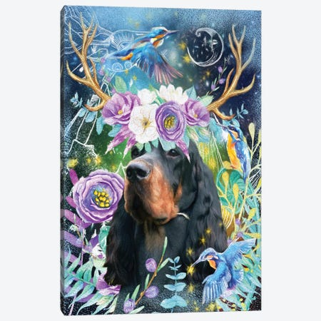 Gordon Setter Once Upon A Time Canvas Print #NDG452} by Nobility Dogs Art Print