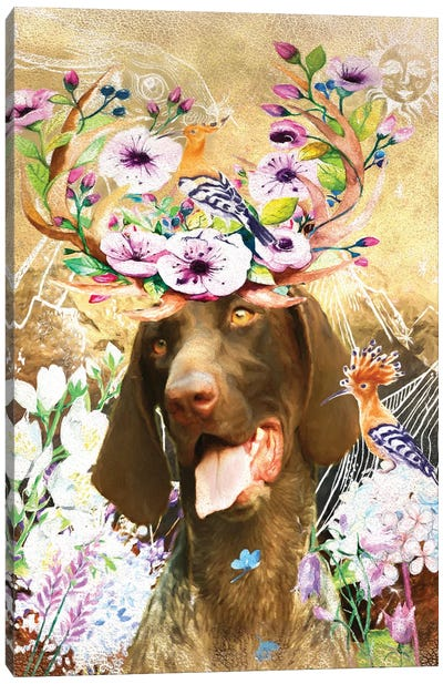 German Shorthaired Pointer Once Upon A Time Canvas Art Print