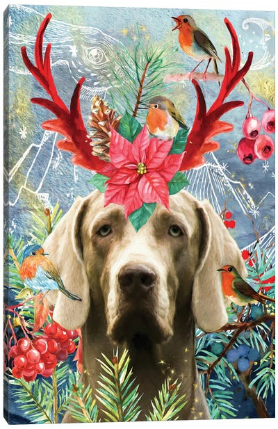 Weimaraner Once Upon A Time Canvas Art Print