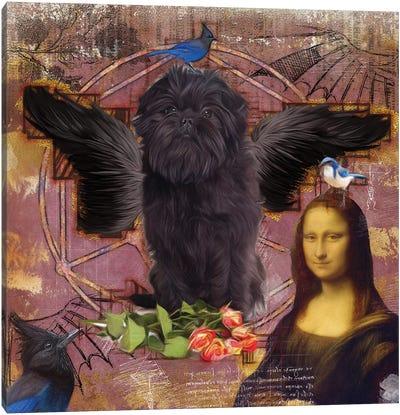 Affenpinscher Angel Da Vinci Canvas Art Print