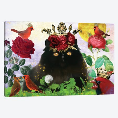 Persian Cat And Cardinal Canvas Print #NDG516} by Nobility Dogs Canvas Print