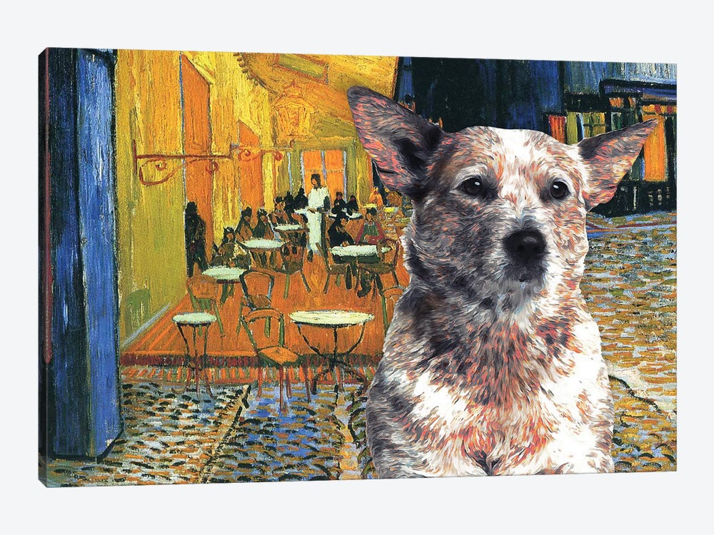Australian Cattle Dog Red Heeler Cafe Terrace by Nobility Dogs 1-piece Canvas Art Print