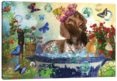 German Shorthaired Pointer Wash Your Paws Canvas Art Print