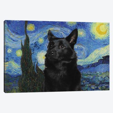 Australian Kelpie The Starry Night Canvas Print #NDG580} by Nobility Dogs Canvas Art Print