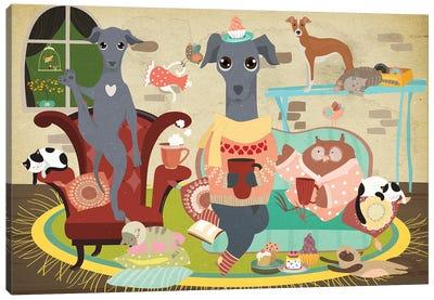 Italian Greyhound Tea Time Canvas Art Print