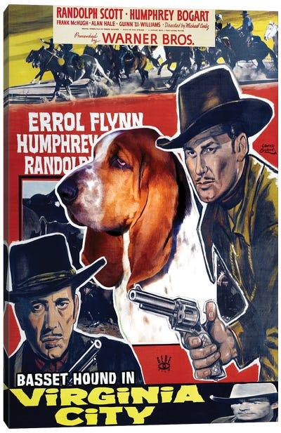 Basset Hound Virginia City Movie Canvas Art Print