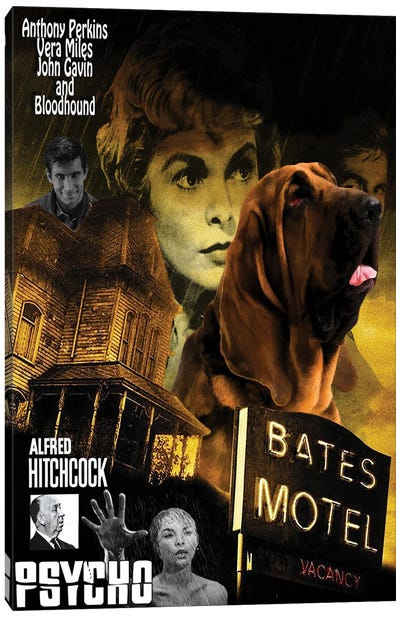 Bloodhound Psycho Movie Canvas Art Print